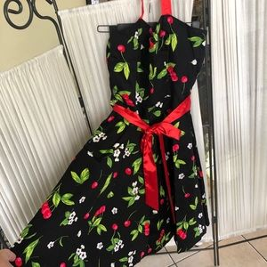 Hearts and Roses Sz 12 cherries & flowers.NWT